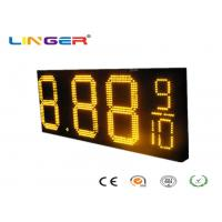 China Waterproof RF Controller LED Gas Price Sign with Iron / Aluminum Cabinet wholesale