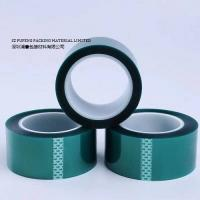 Quality PET High Temperature Masking Tape , Green Heat Resistant Silicone Adhesive Tape for sale