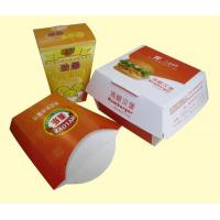 China Take Out Paper Box For Friench Fries / Hamburg And Popcorn Chicken Packages wholesale