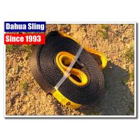 China Black Recovery Tow Straps Car Hauler Straps 20m X 50mm 4500kg Breaking Strength wholesale