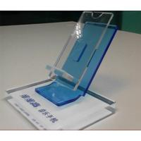 China Clear Acrylic Mobile phone Display Holders with silk screen printing wholesale