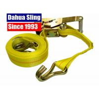 China 50mm 5T Heavy Duty Ratchet Straps For Truck , EN 12195-2 CE Certified wholesale