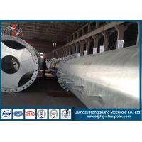China Flange Connection Type Steel Electrical Power Pole Q235 Transmission Line Project wholesale