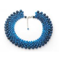 China New natural blue agate necklaces multilayer women Jewelry wholesale from China low MOQ wholesale