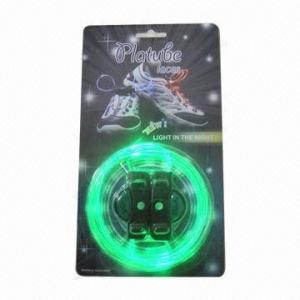 Quality Novelty LED Shoelaces with LED Flashing Disco Flash Lite Glow Stick, CE/RoHS Marks for sale