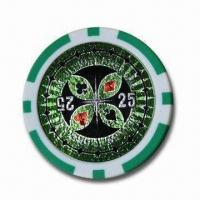 China Poker Chip, Made of PS, ABS or Clay wholesale