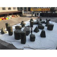 China Customized camouflage Inflatable Sports Games / Inflatable Paintball Bunkers for Shooting Games wholesale