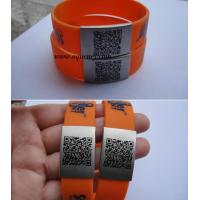 China Factory produce medical alert bracelet,Custom size silicone ID Wrist with engraved logo wholesale