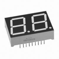 China 0.80-inch 7 segment Numeric LED Display in Dual-digit, Various Colors for Numeric Display wholesale
