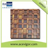 China Antique wood wall mosaic tile, wall panel mosaic tiles wholesale