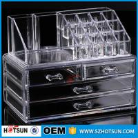 China PS or Acryic Lipsticker holder, Acrylic makeup organizer with four drawer wholesale