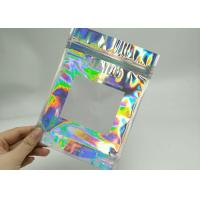 China Holographic Lase Plastic Sealed Bags 8 * 15CM Size For Eyelash Brush RB-015 wholesale