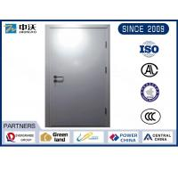 Metro Silver Steel Insulated Fire Door With Solid Structure Wear Resistance