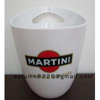 China Round plastic clear ice bucket wholesale