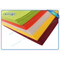 China 45 Gram Colorful Disposable Non Woven Tablecloth Eco Friendly wholesale