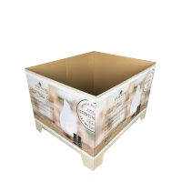 China Cuboid Shape Corrugated Cardboard Pallet Wrap Retail Display with Platform on sale