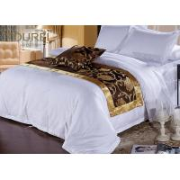China 300 Tc Cotton European Hotel Bed Runners / Flat Sheet / Pillowcase wholesale
