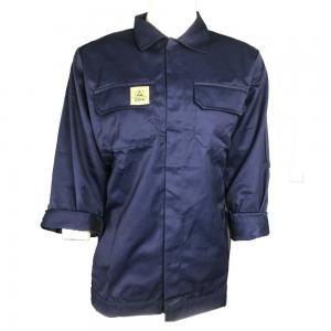 China Navy Blue Unisex Supervisor Manger 220g ESD Smock wholesale