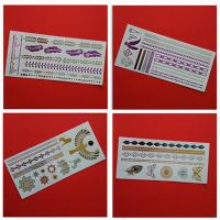 China Custom Gold Body Tattoo Stickers wholesale