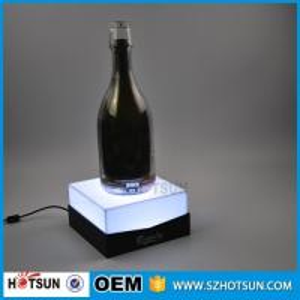 China Custom acrylic e liquid display stand LED e liquid bottle rack wholesale