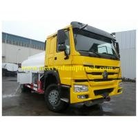 China Yellow Oil Tank Truck with 22M3 Volume 336HP Euro 2 for Mauritania with ISO / CCC wholesale