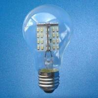 China LED Bulb with 0.2W White Top LED Light Source and 175 to 240V AC Voltages wholesale