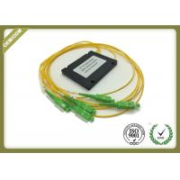 China Single Mode 1x4 PLC Fiber Optic Splitter With SC APC For FTTX Solution OEM ODM wholesale