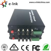 China 8-Ch HD-AHD CVI TVI CVBS 4 in 1 Over Fiber Converter  Support 720p/50, 720p/60, 1080p/25, 1080p/30 videos wholesale
