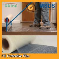 China Heavy Duty Car Carpet Protector Film , Sticky Back Plastic Carpet Protector Film wholesale