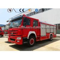 China 20 Cbm Firefighter Truck Sinotruk 4 By 2 Left Hand Drive Reliable Performance wholesale
