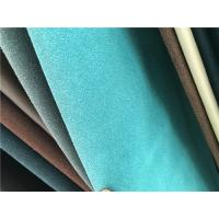 China Durable PU Faux Suede Leather Fabric , Safety Synthetic Suede Fabric wholesale