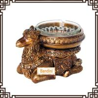 China lovely resin camel Ashtray resin home crafts and household decorative ashtray DA0340GE wholesale