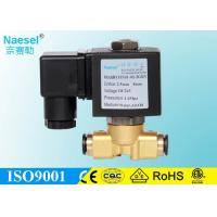China solenoid flow control valve brass 10 bar 145 psi pressure free mounting on sale