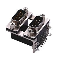China D type  two part  with fork Right Angle Dual Row D Sub Connector PBT black 15 Pin wcon ROHS wholesale
