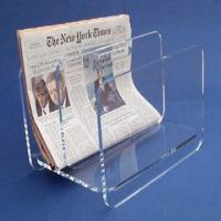 China Countertop Clear Acrylic Brochure Holders / Custom Lucite Magazine Holder wholesale