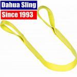 China Yellow 3ton 2 Ply Polyester Flat Lifting Slings Light Weight Eye Slings , WSTDA Standard wholesale