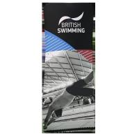 Quality Airport Medusa Tension Fabric Banner Stands With Carrying Bag Snake Shape for sale