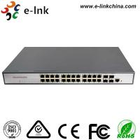 Buy cheap Industrial  Ethernet POE Switch:  24-port 10/100/1000Base-T + 2-port 1000Base-SFP/RJ45 Network Managed from wholesalers