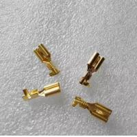 China 6.3 male and female terminal plug spring / connector / cold terminal copper / hard sheath thickening line wholesale