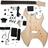 China Polished Basswood DIY Solid Electric Guitar Kits With Double Locking System AG-WU1 wholesale