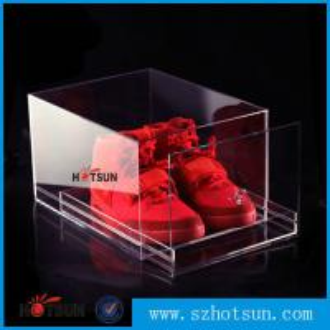Quality 2016 New design acrylic shoe box/clear shoe box, Custom Shoe Box Manufacturer for sale