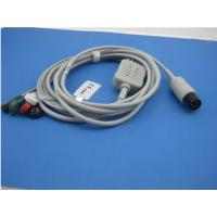 Professional one-piece 5 leads holter ecg cable snap compatible any ecg machine