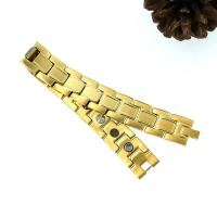 China Hot Sale Titanium Infrared Ray New Gold Bracelet Models,with Bio element magnet wholesale
