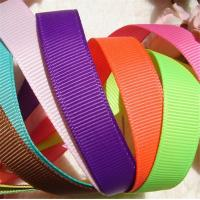 China Fancy Polyester Grosgrain Ribbon , Grade Four Solid Color Grosgrain Ribbon wholesale