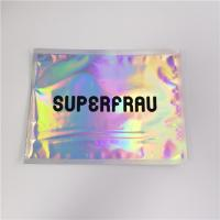 China Laser Holographic Film Grip Seal Bags Zip Lock Customized Logo For Cosmetics wholesale