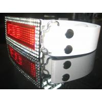 China 2015 digital programmable  Rhinestone Scrolling LED Belt Buckle for belt wholesale