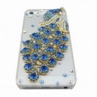 China PC Case for iPhone 5 with Diamonds, Fashionable Design wholesale