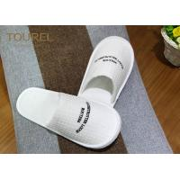 Washable Ultra Cosy Custom Hotel Slippers Waffle Slippers For 5 Star Hotel