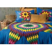 China Geometric Design Handmade Bedding Sets , 100% Cotton Colorful Bedding Sets wholesale