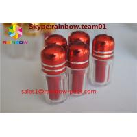 China Small sex  empty medicine bottles with aliminum foil cap , bullet shell casing wholesale